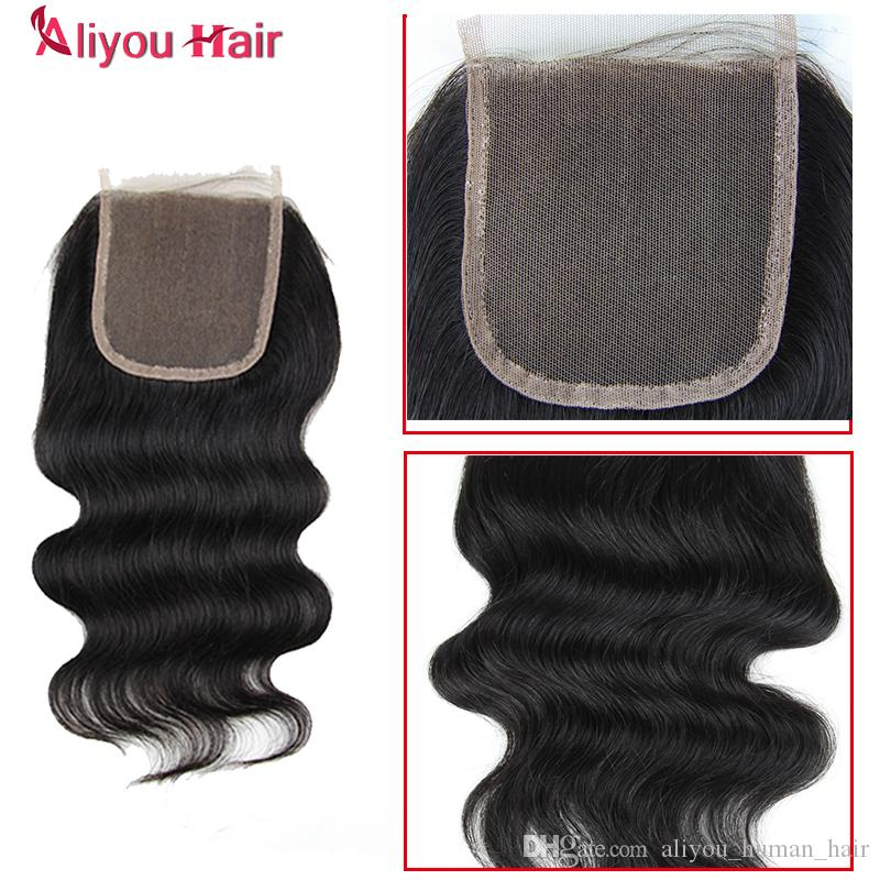 Body Wave Hair Weaves 3 Bundles with Closure Brazilian Peruvian Malaysian Indian Cambodian Virgin Human Hair Extensions with Weaves Closure