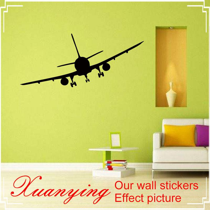 2017 Hot Diy Holiday Vinyl Removable Commercial Airliner Wall Decal ...