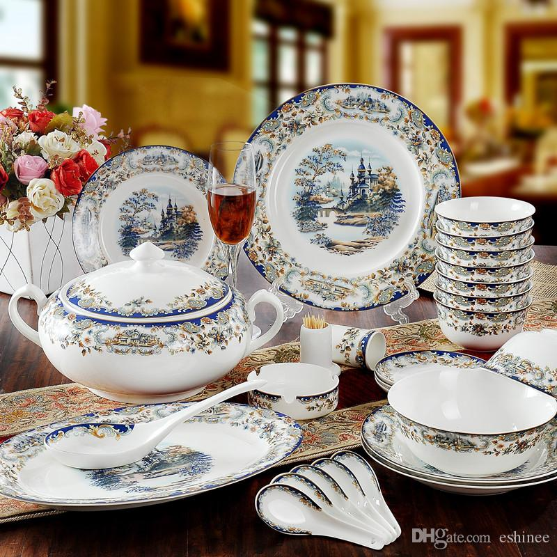 Eco Friendly Hot Sale New Year Fine Bone China Porcelain Tableware Porcelain Dinnerware Set Edinburgh Dinnerware Sets Acrylic Dinnerware Sets From Eshinee ... & Eco Friendly Hot Sale New Year Fine Bone China Porcelain Tableware ...