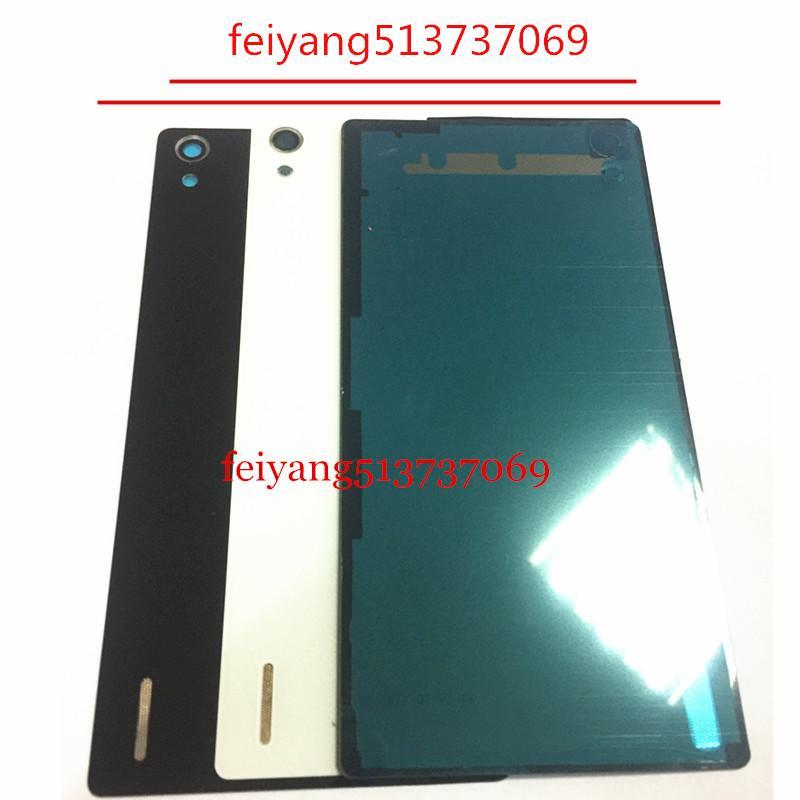 Huawei Ascend P7 Için bir kaliteli Pil Arka Kapak Konut Case 3 M Yapıştırıcı + Kamera Lens Ile