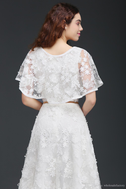 Branco Vintage Completo Laço Mãe das Noivas Vestidos com Wraps Chá Sash Comprimento Mãe Vestidos Para Ocasiões Especiais Real Foto CPS668