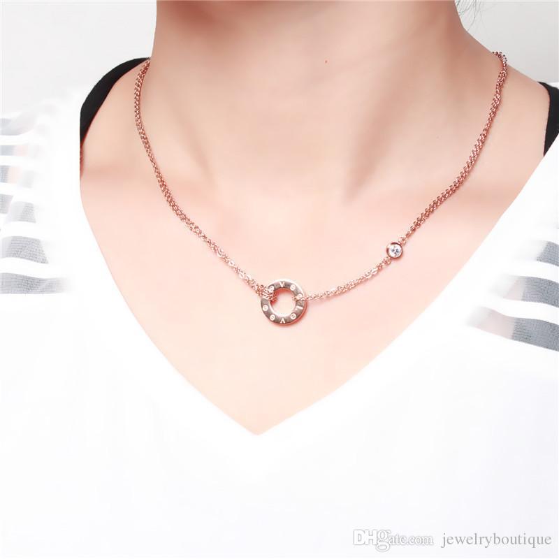 2019 nuovo arrivo collana pendente romantico placcato platino 14k con pietra di cristallo amante collana pendente gioielli spedizione gratuita PS5031