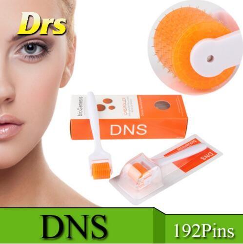 DNS Bio Genesis Titanium 192 Needles Derma Roller Microneedle Roller Skin Body Beauty Roller Dermaroller For Skin Rejuvenation Anti Aging