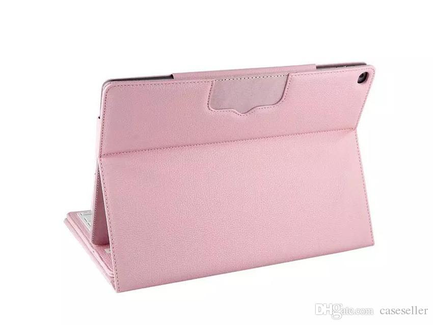 Bluetooth Wireless Keyboard Case PU Leather Smart Cover with Stand Holder for iPad Pro New 12.9 Inch Tablet