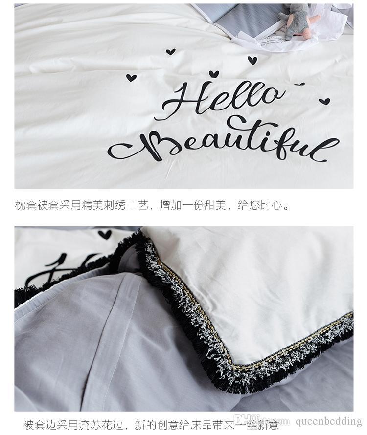 ragazze rosa di cotone Slip in pizzo di lusso biancheria da letto set ciao cassa del set di disegno del cuore PRINCIPALE regina re copripiumino lenzuolo cuscino