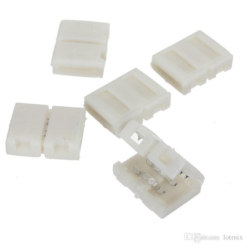 최고의 프로 모션 / 8mm 2PIN 커넥터 어댑터 액세서리 PCB 3528 LED 스트립에 대 한 단일 색상 솔더리스