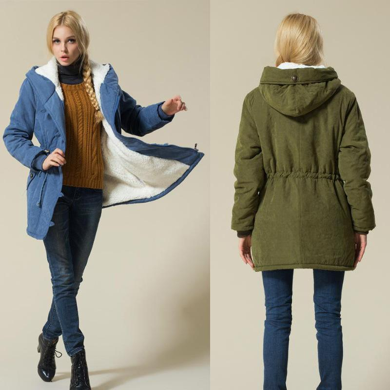 a8de5af2e071 2019 Ladies Coats Jackets Army Green Winter Coat Women 2017 Female Cotton  Hooded Jacket Padded Parka Casual Coat From Johnbob1994, $31.16 | DHgate.Com