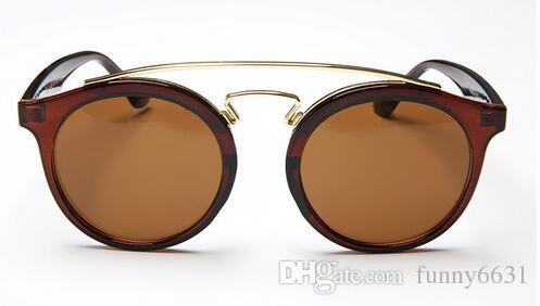 summer new WOMen fashion metal Coating Sunglass round frame Driving Glasses Women riding glass BEACH Eye wear Oculos Sunglasses