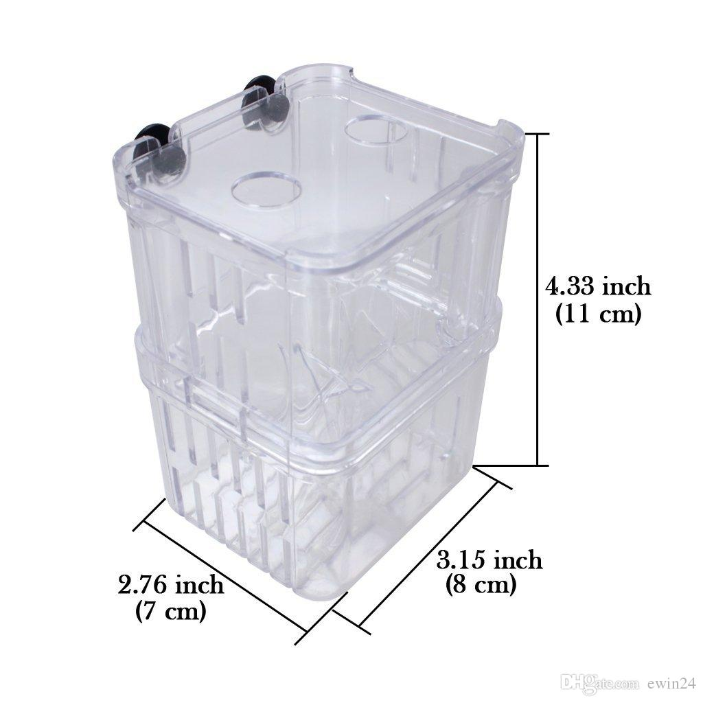 Multifonctionnel Boîte d'isolement pour élevage de poissons Piscines suspendues Incubateur Aquarium Incubateur d'élevage de poissons Flottant Hatcher Mini aquarium