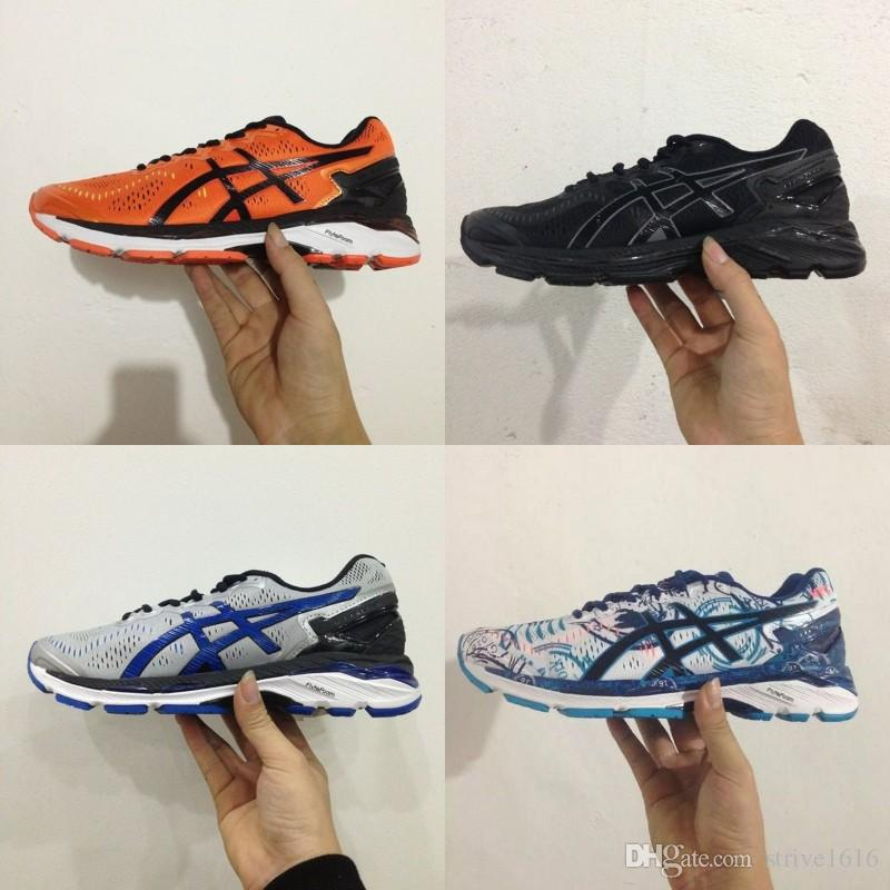 sale retailer 0b8bd cdf9a Asics GEL-KAYANO 23 Men Women Running Shoes Original Cheap Jogging Sneakers  Authentic Designer Sneakers Sports Shoes Size 36-45