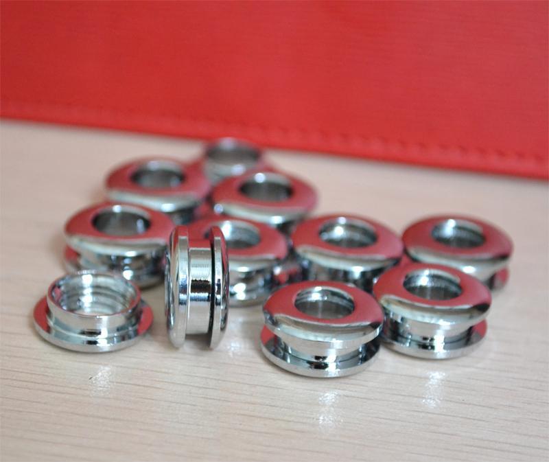 Grommets brass gas hole screw Threaded connection eyelet DIY bag belt part hardware handmade cloth ring buckle hole