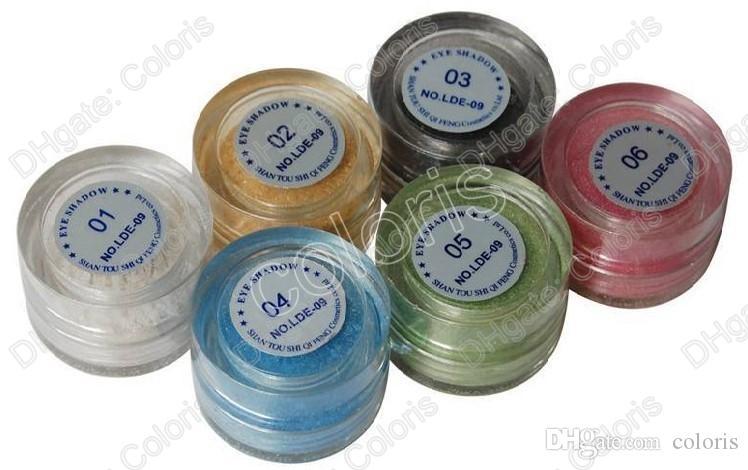 Dansmake-up Essential Pearl Powder Glittler Oogschaduw Pigment High Light Pink 10 Stks