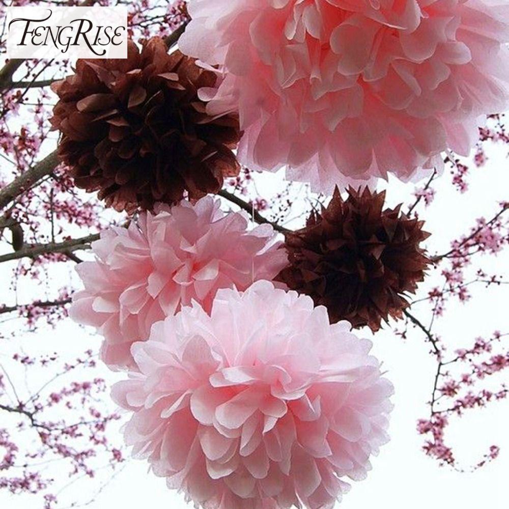 Best Wholesale Fengrise 40cm Tissue Paper Pom Poms Artificial