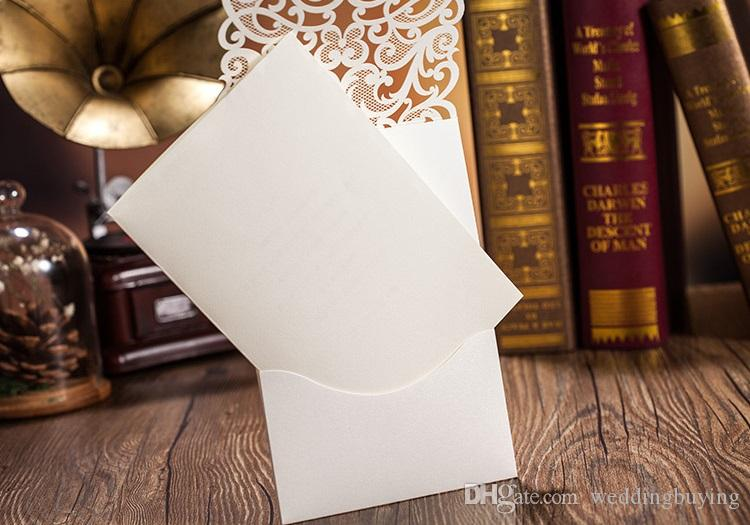 Hot Selling Wholesale Personalized Diamond Wedding Invitation Cards Hollow Laser Cut Diamond Personalized Invitation Cards in good Price