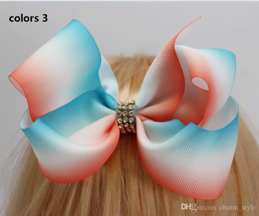 2 stili disponibili! 6 pollici JoJo Grande ombre Boomerang arco dei capelli Arco Dei Capelli Del Rhinestone le neonate accessori capelli del bambino 12 pz /