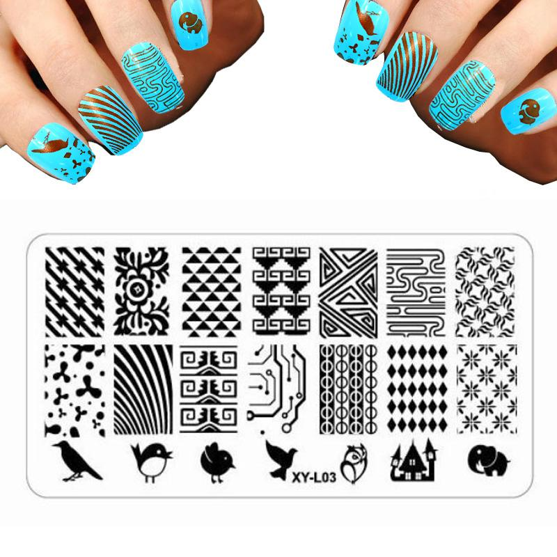 Wholesale 2016 Nail Art Templates Christmas Stencils For Nails