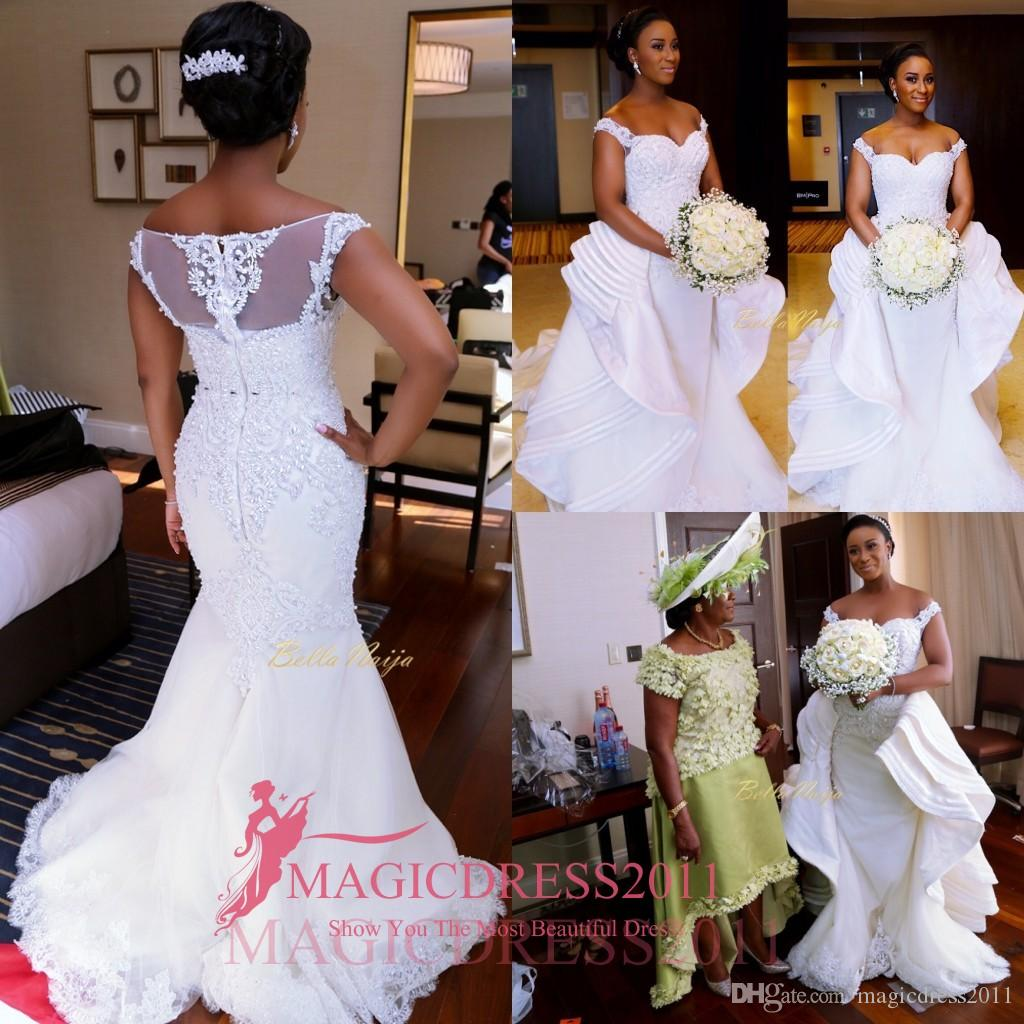 2016 nigeria mermaid lace wedding dresses with over skirts heavily 2016 nigeria mermaid lace wedding dresses with over skirts heavily embellishment plus size court train vintage ombrellifo Images