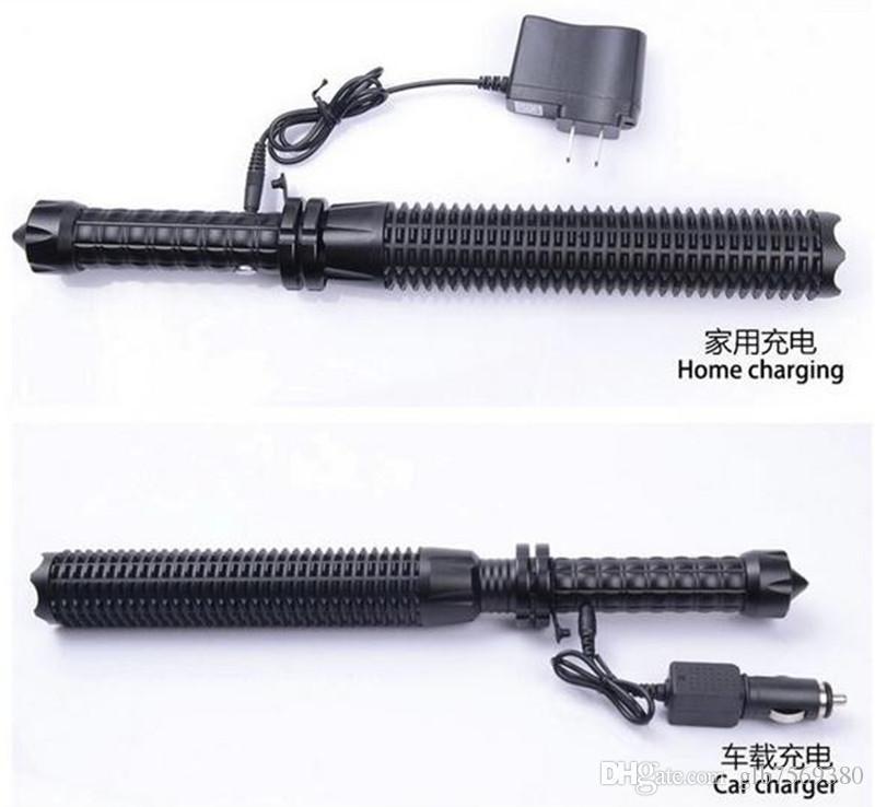 Toptan Led el feneri 2000 lümen CREE Q5 Ayarlanabilir zoom Öz savunma 18650 veya AAA pil için Taktik ışık meşale