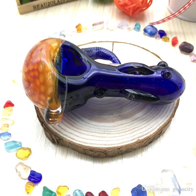 Heady Spoon Pipes Tubi di tabacco da olio colorati di vetro all'ingrosso da 3,3