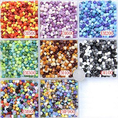200gram/6X6MM Mini Square shape Recycle Glass Mosaic, Loose DIY Mosaic Art Hobbies craft material, DIY accessories