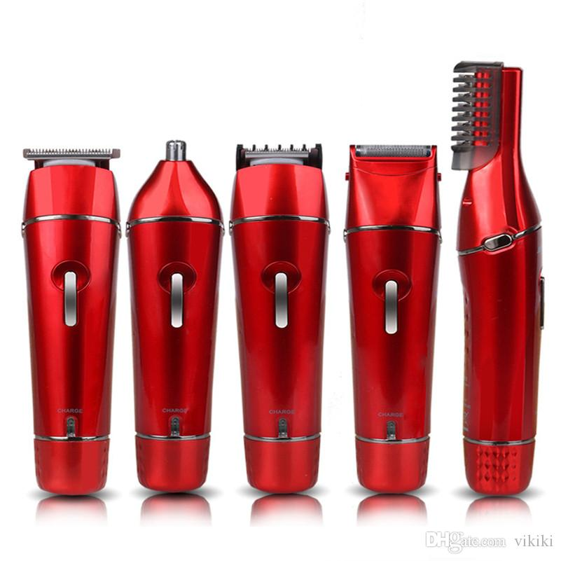 5 in 1 electric hair clipper body hair trimmer lady epilator rechargeable head shaver nose ear trimming beard eyebrow trimmer shaving hair c