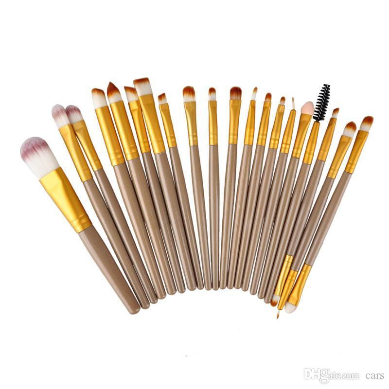 2017 Professional 20 Pz Pennelli Trucco Set Powder Foundation Ombretto Eyeliner Lip Pennelli trucco cosmetico Maquiagem