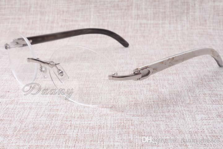 Hot-venda de alta qualidade do quadro roda luxo 8100903 naturais vidros pretos e brancos homens lazer moda e mulheres Tamanho óculos: 54-18-140mm