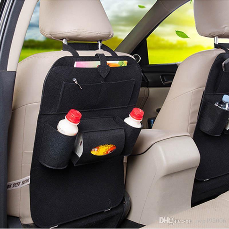 Car Back Seat Storage Bag Car Seat Cover Organizer Bottle Tissue Cup ...