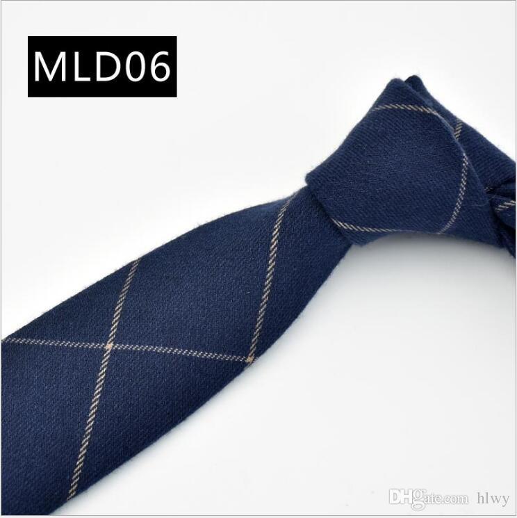 Cravate coton coréen de haute qualité costumes costumes tissu robe d'affaires cravate cravates