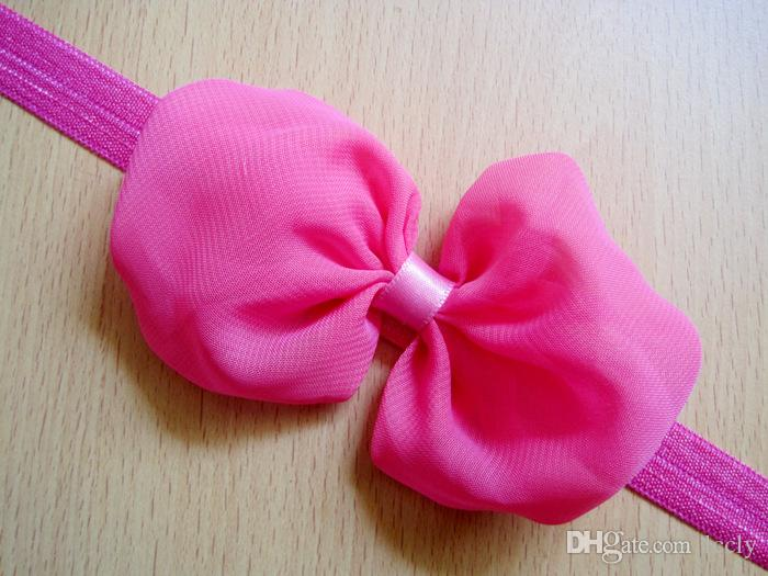 Infant Girls Chiffon Flower Tulle Lace Headbands Baby Nylon Hairband Headwear Holiday Gift For Baby Hair Accessories