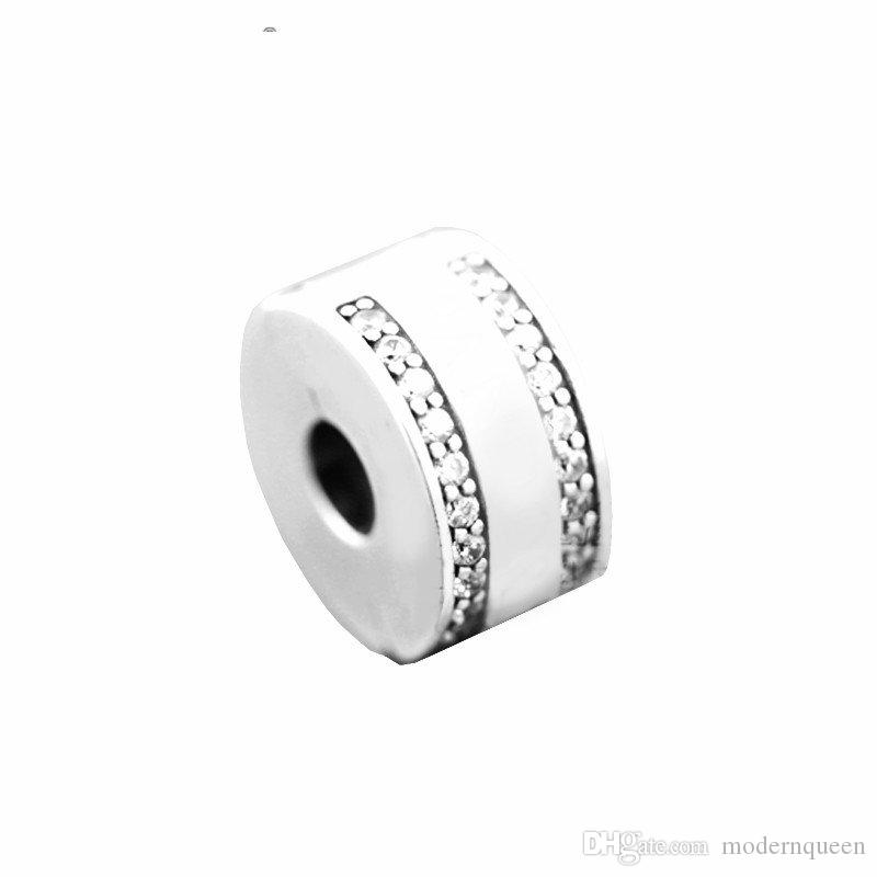 Clip beads charms original 925 silver fits for pandora Jewelry bracelets S925 sterling silver aleCH621H7