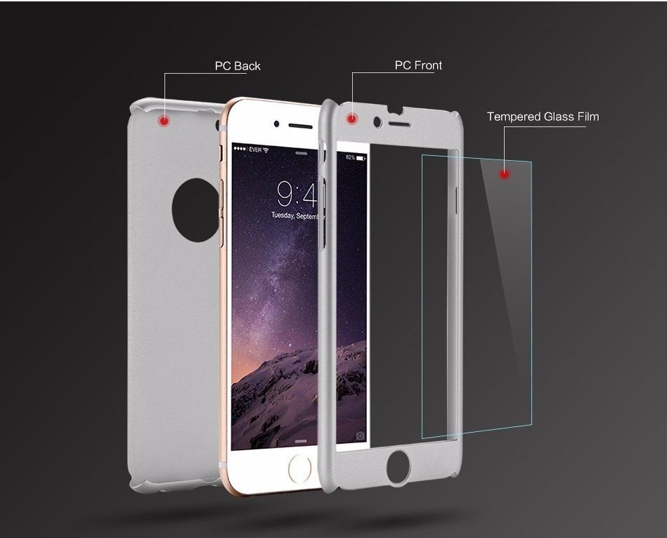 360 grad volle abdeckung schutz mit gehärtetem glas harte pc abdeckung case für iphone x 8 plus 7 6 6 s se 5 s 5 samsung s8 s7 s7 s6 anmerkung 5
