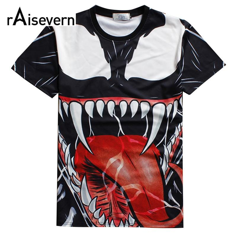 1c13774d1311 Wholesale Raisevern 2016 New 3D T Shirt Venom Print Casual Tee Top Harajuku  Punk Shirts Summer Style T Shirt Men Women Fashion Tops Tee Shirt A Day  Shop T ...