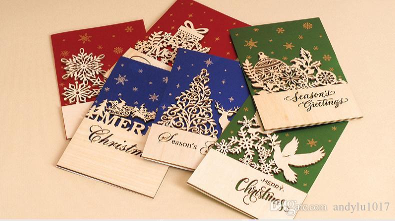 Manuale creativo le cartoline di Natale allingrosso 3D stereoscopico  doppio colore albero di Natale di festa e le cartoline di fai da te