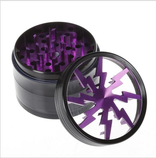 63 мм металлическая алюминиевая трава Grinder 4 слоя табака Grinder освещения формы Magentic разработан с пыльцы Catcher 5 цветов