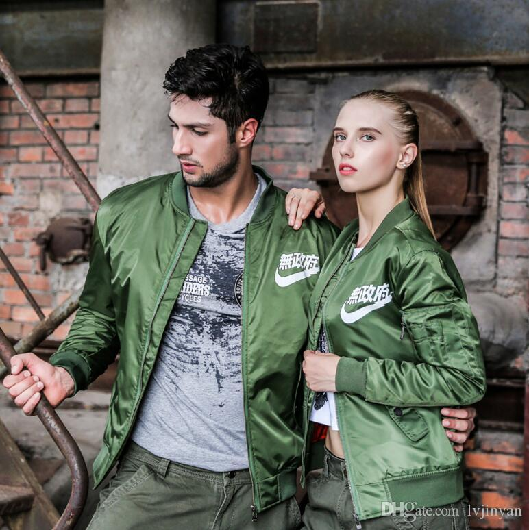3d925b30ce MA1 Bomber Jackets Men Army Green Military US Air Force Kanji Japanese  Merch Anarchy Pilot Mens Jacket Flight Tactical Homme New Plus Size  Discount Mens ...
