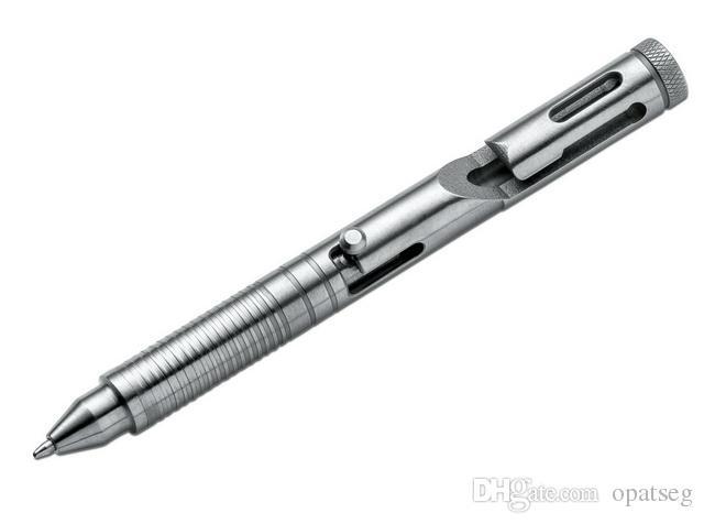 Cnc تشكيله بوكر زائد 09BO089 cid CAL.45 tc4 سبائك التيتانيوم التكتيكية بولت القلم أدوات الدفاع بقاء الانقاذ القلم edc الكرة القلم no logo