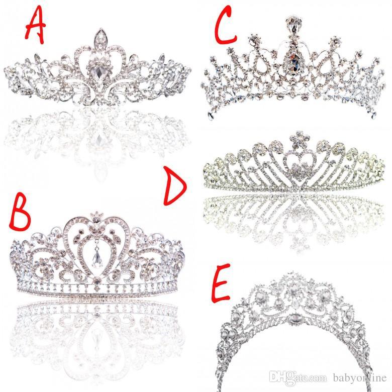 Grandes Princesse Classique Mariée Coiffures Diadèmes Jolies Filles Diadèmes Couronnes Tous avec Cristal pour Mariage et Cadeau Nouveau Style Livraison gratuite CPA793