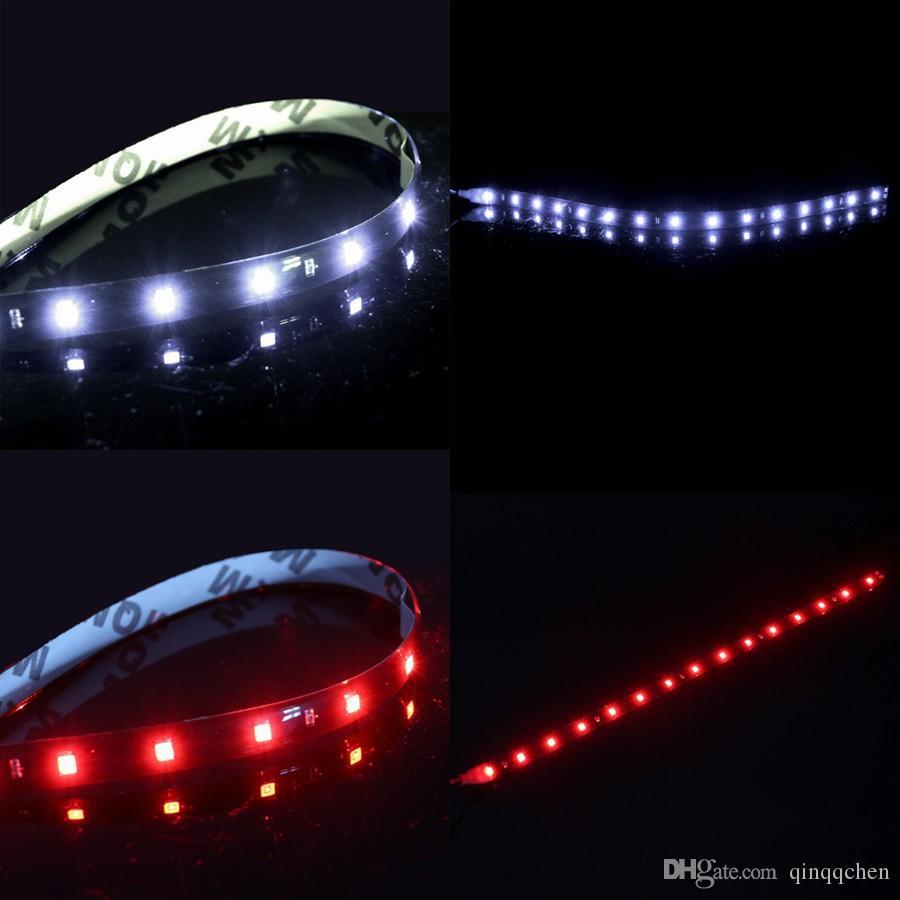 Coche impermeable Auto decorativo Flexible tira de LED de alta potencia 12 V 30 cm 15 DSD Coche luz de conducción diurna LED Coche luz de tira LED DRL