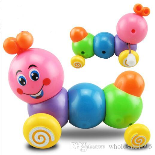 Cute Worm Wind Up Toy Mini Cartoon Clockwork Spring Worm Children Toy Toddler Educational Toy Random Color YH991