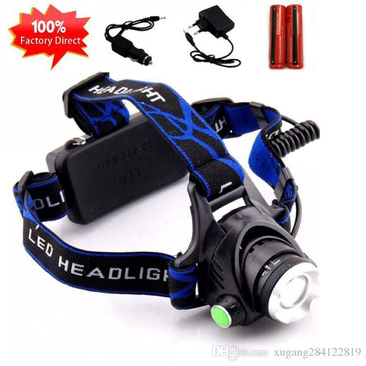 USB Sensor Head Light Torch Headlamp Headlight Lamp Rechargeable Lumens 1200mAh