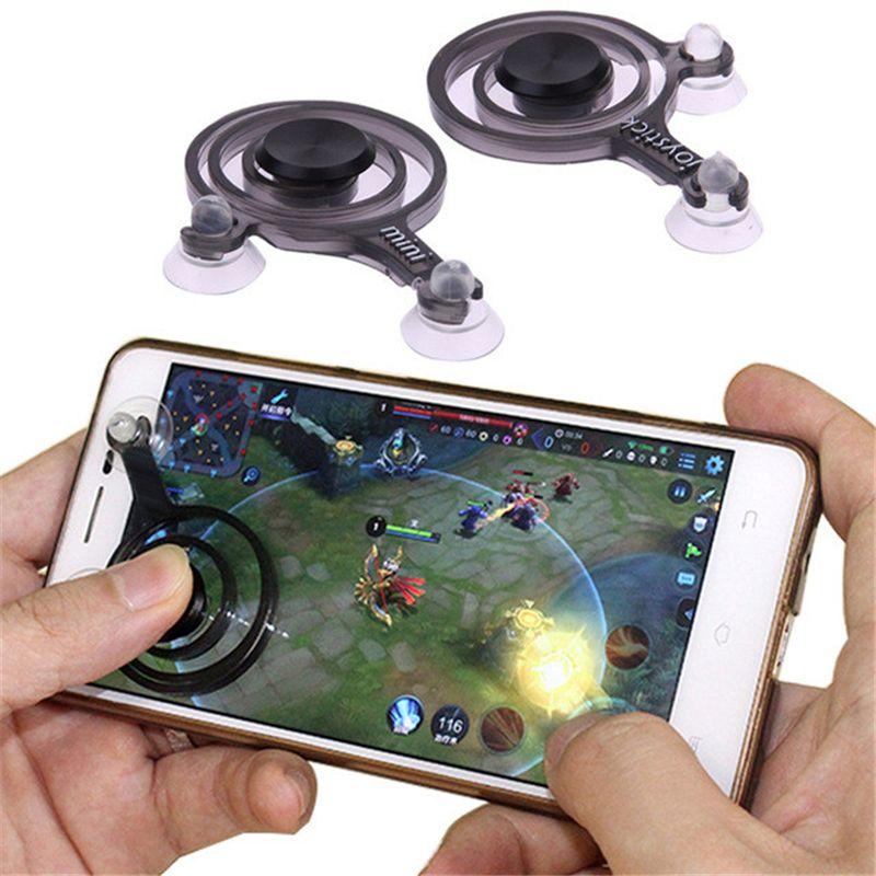 2 teile / satz Handy Spiel Joystick Telefon Mini Spiel Rocker Touchscreen Joypad Tablet Sucker Game Controller Für iPhone Android handys wireless