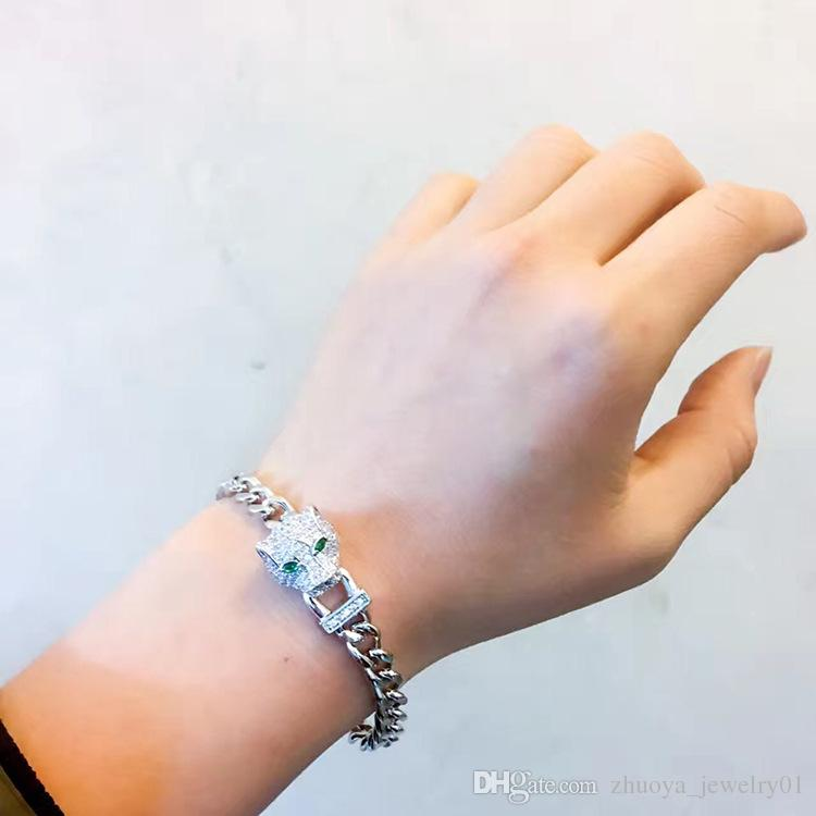Wholesale or drill a leopard head bracelet with ms han edition 18 k rose gold with diamonds Leopard bracelet