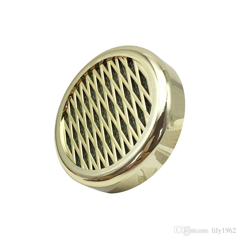 New Hot Sale Fashion Golden High Quality Cigar Humidifier Round Portable for Travel Smoking Accessories