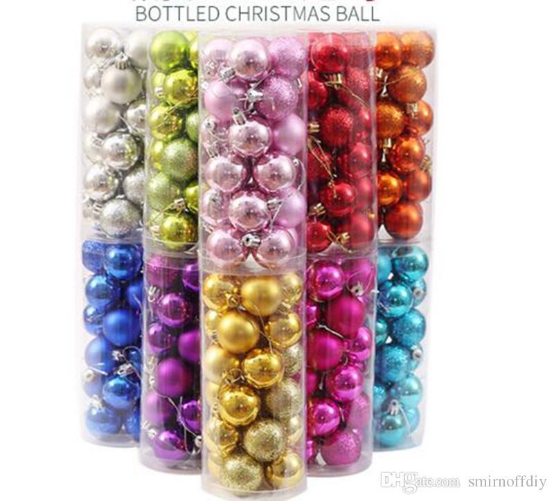 /box Christmas tree Ornament Plastic ball home Christmas tree Inferior smooth light Decoration ball for Christmas