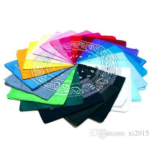 bandanas Unisex Popular Cotton 55*55cm Paisley Bandanas Headwrap Head Wrap Scarf Wristband