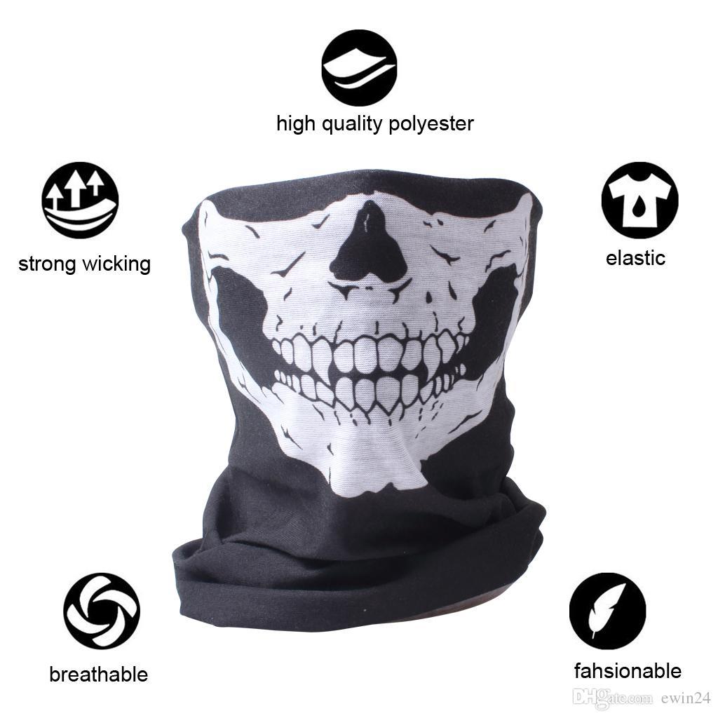 Kafatası Yüz Maskesi Boyun Isıtıcı Şapkalar Kafa Sarma Sihirli Eşarp Balaclava Tüp Bandana Kafatası Kap Kask Astar Kafa Kayak Snowboard için