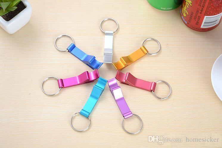 무료 DHL 핫 세일 7 색 포켓 키 체인 맥주 병 따개 클로 바 작은 음료 키 체인 링