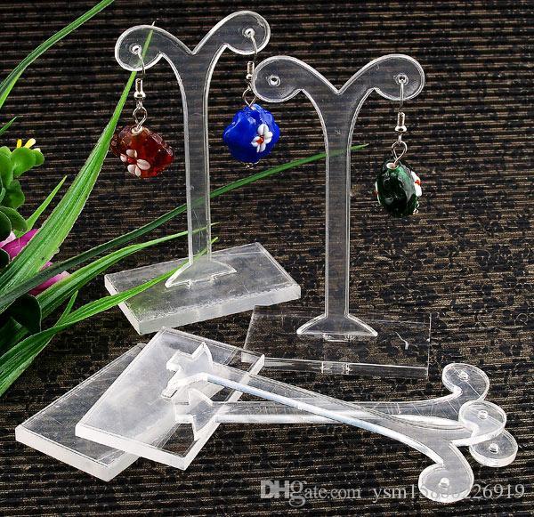 Nova Venda Acrílico Jóias Display Frete Grátis 85mm Shoot Acylic Brinco Display Stand Holder, moda Jóias