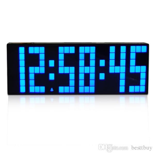 Digital Big Jumbo Led Countdown Temperature Calendar World Timer Desk Clock Table Alarm With